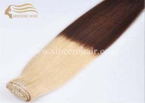 China Hot Sale 26 Clip In Hair Extensions for sale - 65 CM 8 PCS A Set 130G Ombre Clip In Remy Human Hair Extensions for Sale on sale