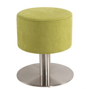 China Light Green Round Shape Modern Swivel Lounge Chair With Stainless Steel Base on sale