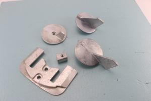 China Zinc Marine Sacrificial Anodes Customized Dimension For Boats / Ships on sale