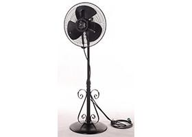 China 16 18 Inch Oscillating Pedestal Fan 3 Metal Blade Chrome Floor Standing For Home on sale
