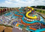 Water Play Equipment Fiberglass Water Slide , Commercial Pool Water Slide