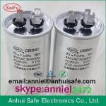 aluminum case round CBB65 capacitor 10uf to 60uf 250VAC 450VAC 550VAC 650VAC CHINA MADE