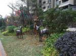 Brass Deer Animal Sculptures Garden Ornaments Statues Back Garden Design