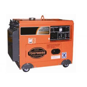 China 7kva geradores portáteis pequenos, ar portátil diesel do gerador do motor 3000rpm/3600rpm de refrigeração on sale