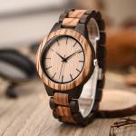 Vintage Round Case Japanese Quartz Wrist Watch Burlywood Color Logo Customized
