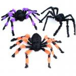 Customized Halloween Party Crafts Halloween Props Black Wool Cloth Soft Spider