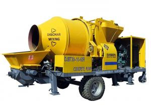 China DJBT30 self loading small portable mobile diesel concrete pump with mixer on sale