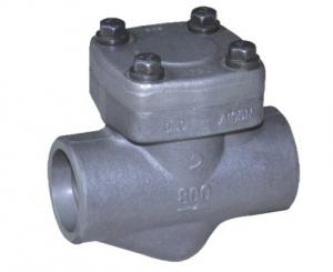 China 2500LB DN50-DN80 Vertical Lift Check Valve , Forged Steel Check Valve on sale