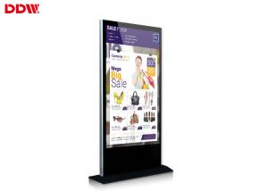 China indoor 65 Inch high brightness LCD Module multi touch free standing kiosk DDW-AD6501SN on sale