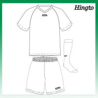 Customized Wicking Mesh Cool Soccer Jerseys / Polyester 150gsm Sports Uniforms