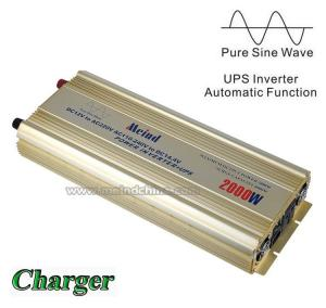 China 2000W Pure Sine Wave Power Inverter with Charger UPS 12V DC to 220V AC Converter Meind on sale
