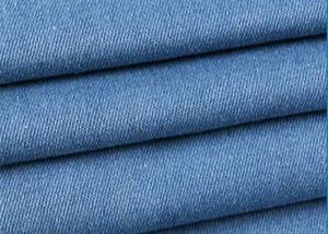 China Blue 100% Cotton Stretch Denim Fabric 145-150cm Width With 435g/M Weight on sale