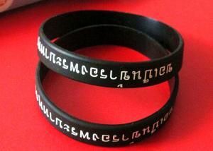 China Beautiful Pattern Custom Rubber Bands Black Thai King Memorial Imprinted on sale