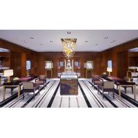 Luxury Jewelry Store interior design of Display showcase made by Stainlesss steel with Tall cabinets in Golden color