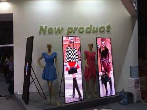 China Indoor P2.5 Full Color Poster LED Display Stand, LED Mirror Display Screen on sale