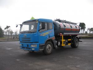 China 136kw 12000L 4x2 Liquid Tank Truck Storage Isoprene Steel / Aluminum on sale