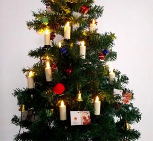 China Electric Dancing Flame Pillar Flickering Christmas Tree Realistic Flameless Candle on sale