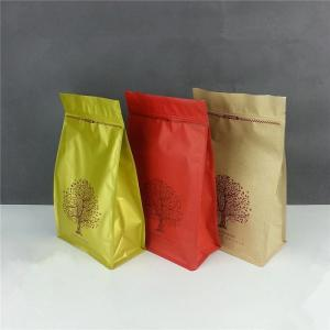 China Dried Food Packaging Stand Up Ziplock Bags Gravure Printing With Matte Finish on sale