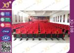 Movable Folded Church Furniture Chairs Electrostatic Spraying Feet Floor Mounted