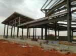 Galvanized C Purlins Prefabricated Steel Frame With Self - Tapping Screw