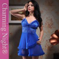 China Fashionable Nylon Good Stretch Sexy Lingerie Babydoll Dress With  Double Fur Skirt on sale . 0d139e0e0
