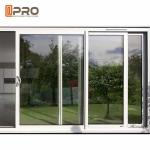 America Style Aluminum Single Tempered Glass Windows And Door Anti - Aging