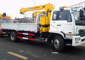 China 10 T hydraulic boom Truck Mounted Crane XCMG brand for trailer production on sale