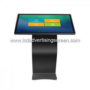 China 49 Inch Black LCD Capacitive Touch Screen All in One Display Kiosk with Win10 System on sale