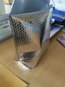 China Big Volume Stand Up Metallic Bubble Mailers Silver 145x210mm #C Aluminum Foil Wrinkle Resistant on sale