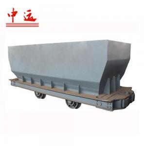 China Single-side Curved Rail Dumping Mine Ore Carts on sale