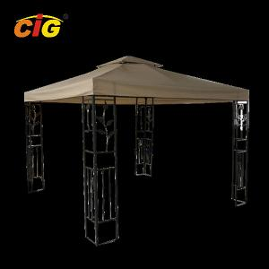 China Outdoor Modern Steel Frame Gazebo Tent Beige Colour With Polyester Cover on sale