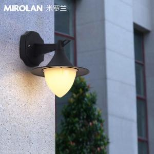 China MIROLAN Black Vintage Wall Lights,8 Watts Outdoor LED Wall Sconce Lighting IP65 Waterproof Frosted Aluminum Housing on sale