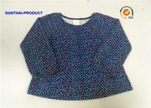 China Comfortable Design Baby Top Long Raglan Sleeve Elastic Neck and Cuff Pin Dot Reactive Baby T-Shirt on sale