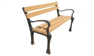 China Smooth Solid WPC Outdoor Furniture , Wood Plastic Composite Park / Garden Bench on sale
