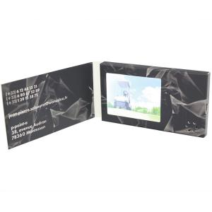 China Free Samples Video In Folder Cheap light sensor  2.4 inch LCD Screen Video Brochure 128M with Li-Battery and sound on sale