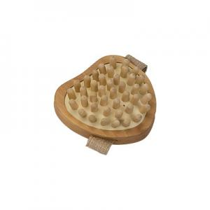 China Pin Wooden Massage Stick Rubber Shoulder Massage Heart Shaped on sale