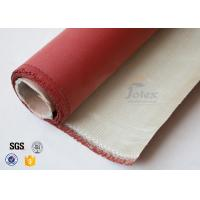 China 0.8mm 700gsm Red Silicone Coated High Silica Fabric Cloth For Fire Blanket on sale