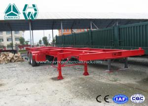 China Professional 40 Ft Long Vehicle Skeleton Low Bed Semi Trailer 2 Axles Extendable Trailers on sale