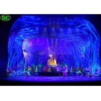 China Soft Transparent Flexible LED Curtain Display , curtain led screen MBI IC on sale