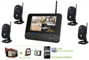 China CCTV 4ch 720p Wireless Security Camera System With DVR Full HD 3G Sim Card on sale