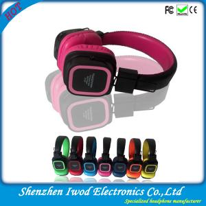 China 2014 wholesale shenzhen factory bulk colorful wireless headphone with FM function for mobile cell phone on sale