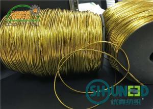 China Custom Gold and Silver Round Elastic Cord Thread String for Hanging on sale