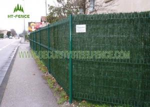 Square Post PVC Coated Welded Wire Fencing V Bend Rigid Fence For ...