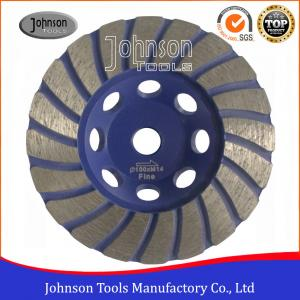 China GB OD 105mm Diamond Turbo Cup Wheel For Stone / Hard Granite / Hard Brick on sale