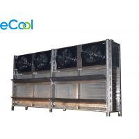China Energy Saving Air Cooled Cold Room Evaporator For Industrial Brine Unit With Copper Tube Al Fins on sale
