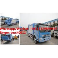 HOT SALE! dongfeng 4*2 LHD 7cbm garbage compactor truck, Factory sale good price dongfeng 7m3 compacted garbage truck