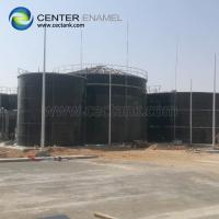 Bolted Steel Grain Storage Silos With Membrane , Aluminum Roof