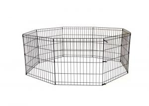 China Portable Outdoor Pet Kennel Eight Panels Low Carbon Steel Wire Eco - Friendly on sale