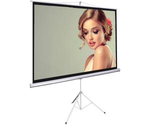 China Matte White Tripod Projection Screen Stand / Floor Pull Up Movie Theater Screen on sale