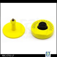 China Animals Identification RFID Livestock Tags 134.2KHZ / 125KHZ Frequency 30mm Diameter on sale
